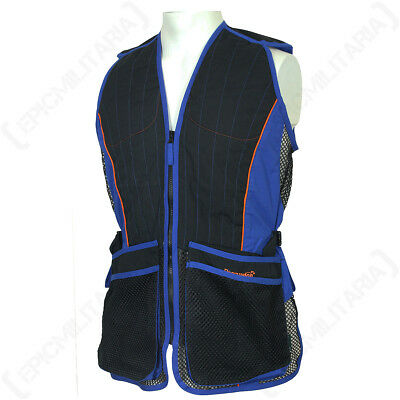 SKEET SHOOTING VEST - BLUE - Hunting Clay Pigeon Jacket Waist Coat Body Outdoors