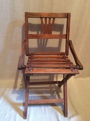 Antique Kids Folding Chair