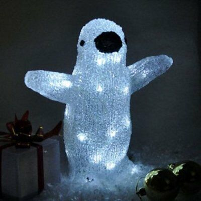 Battery Operated Crystal Effect Penguin Light - Kingfisher