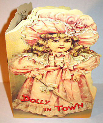 DOLLY IN TOWN Tuck Victorian Book MINT CONDITION HTF Vintage B.Shackman Company