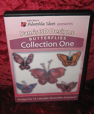 Adorable Ideas Pam's 3D Designs Butterflies by John  Deer (2016-304)
