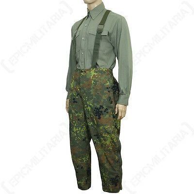 Original Waterproof Flecktarn Trousers - Goretex Genuine German Army Surplus