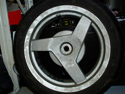 Peugeot vivacity 50 rear wheel and tyre complete 120/70-12