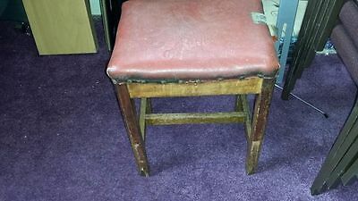 two antique piano stools