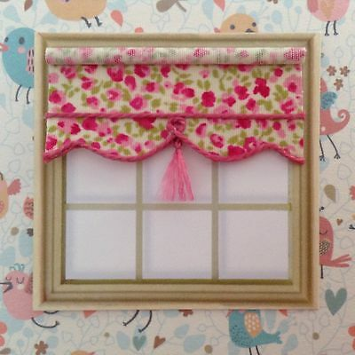 "24th Scale Blind 2"" Wide For Dolls House  Pink Floral"