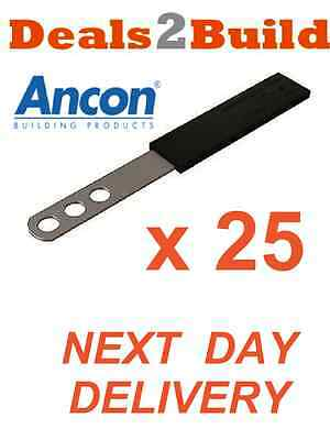 25 x Stainless Steel Straight Movement Slip Ties 200mm FREE NEXT DAY DELIVERY