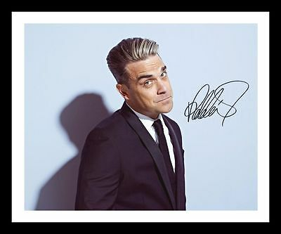 Robbie Williams Autographed Signed & Framed Pp Poster Photo 1