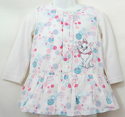 Disney Baby Girl Aristocats Marie White Tunic Dress White Top Age 18-24 Months