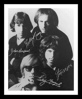 The Doors Autographed Signed & Framed Pp Poster Photo