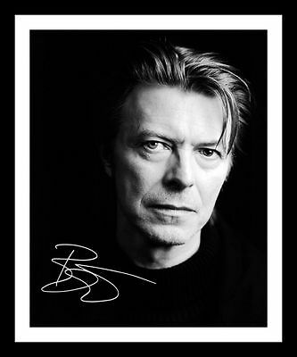 David Bowie Autographed Signed & Framed Pp Poster Photo 1