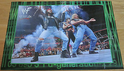 Wwe Wwf Dx Chyna & Triple H Hhh Autographed Hand Signed Poster