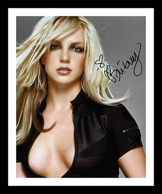 Britney Spears Autographed Signed & Framed Pp Poster Photo 4