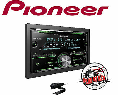 pioneer fh x840dab doppel din cd mp3 autoradio bluetooth. Black Bedroom Furniture Sets. Home Design Ideas