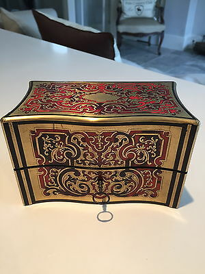 Antique French Boulle Serpentine Fronted Ladies Perfume Casket