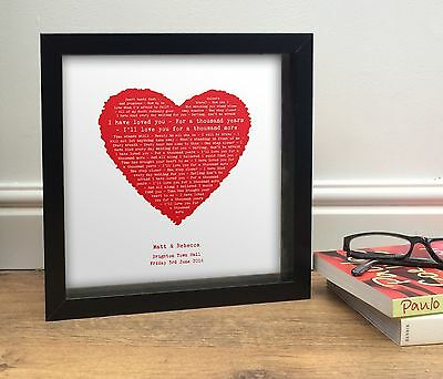 Favourite song PERSONALISED as a vintage heart   Framed or Poster or Card GIFT