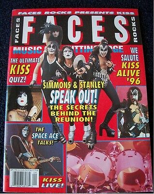 #825 Faces Rock Magazine featuring Kiss Alive 1996