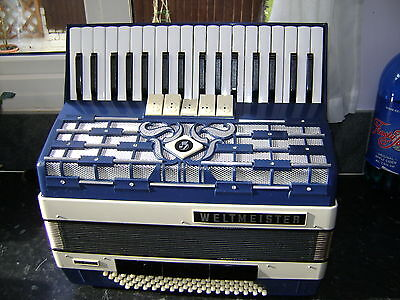 Weltmeister Piano Accordion 80 Bass Very Good Condition Free Uk Post