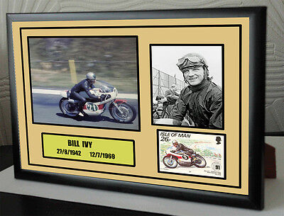 """Bill Ivy 2 Framed Canvas Signed Tribute's """" Great Gift """" 1 £15.99 2 for £22.99"""