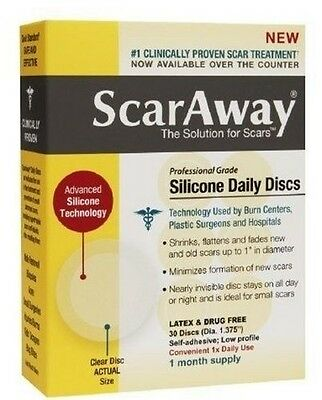 ScarAway 30-COUNT ONE MONTH SUPPLY SILICONE DAILY DISCS, LATEX FREE, 4/2019