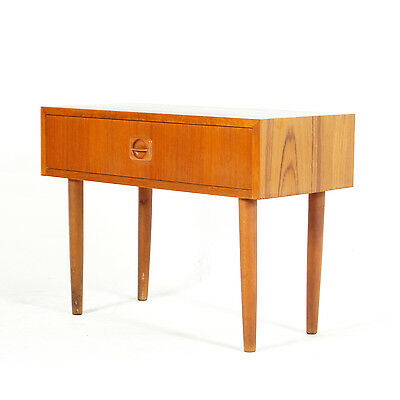 Retro Vintage Danish Modern Teak Hallway TV Night Stand Chest of Drawers 60s 70s