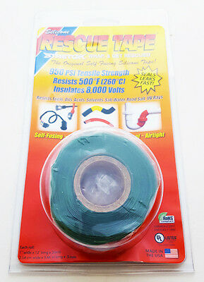"""Rescue Tape Self Fusing Silicone Repair Tape Green 1"""" x 12' Harbor Products"""