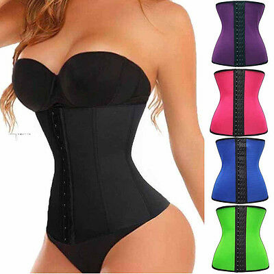 UK Slim Neoprene Body Waist Trainer Belt Sweat Body Shaper Corset Girdle Boned