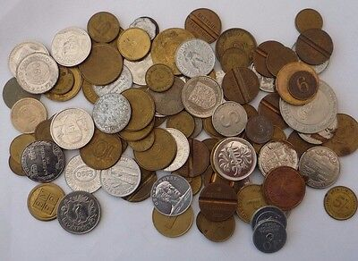Tokens - Bulk - Collection - Mixed - Job Lot - Approx 95 Tokens  - Ref 344