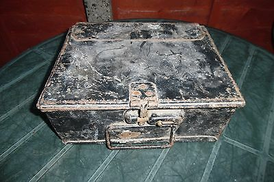 Metal Tool Box For Restoration Possibly Bus Conductors Box For Ticket Machine