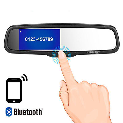 Bluetooth Handsfree 3.5'' Replace Car Rear View Mirror Monitor for Backup Camera