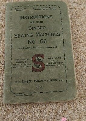 Instructions Booklet for Singer Sewing Machines No.66