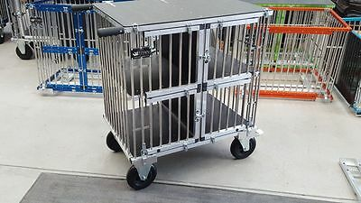 "Titan Large 4 Berth Aluminium Dog Show Trolley with 8"" All Terrain Wheels"
