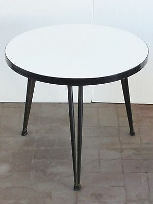 Adorable Coffee Table Round Tripod Formica 1950 Vintage 50S Coffee Table
