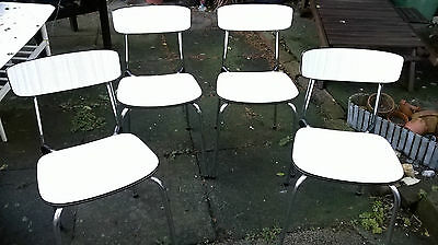 Set of 4 Retro Vintage Belgian Tavo Dining Chairs