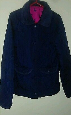 Kids Navy Quilted Jacket 8-9yrs
