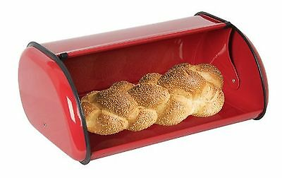 Home Basics Bread Box Red 1
