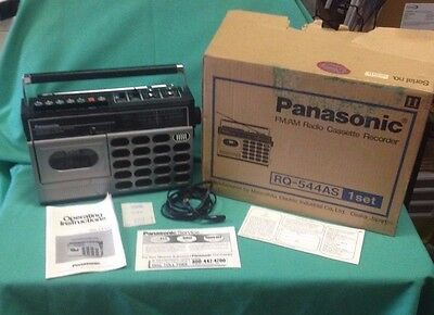 Vintage Panasonic FM/AM Radio Cassette Recorder RQ-544AS with box and manuals