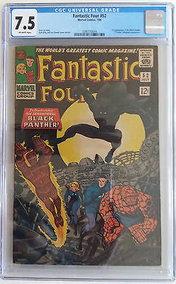 FANTASTIC FOUR  52  CGC 7.5 - 0290770004 - 1st appearance of the Black Panther!