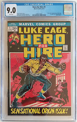 HERO FOR HIRE 1  CGC 9.0  - 0289115007 - Origin & 1st appearance of Luke Cage!