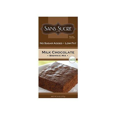 Sans Sucre Milk Chocolate Brownie Mix with Stevia 227g, Low Carb, No Sugar Added