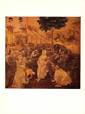 "1974 Vintage LEONARDO DA VINCI ""ADORATION OF THE MAGI"" COLOR offset Lithograph"