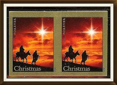 US Pair Imperf Holy Family Stamps Scott#4711, (MNH).