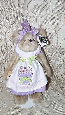 """Bearington Bear Jointed Mommy Bloominglove Smellington Series W/stand 14"""" Nwt"""