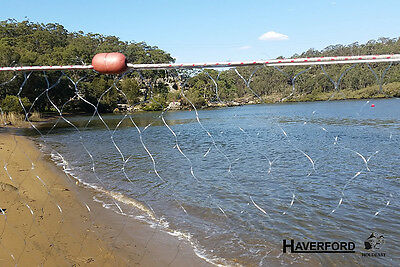 "Fishing Gill Mesh Net - 23m x 2.5m - Ready to Fish 3.5"" x 3.5""  Floats & Leads"