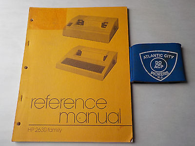 Hewlett Packard 2630 Family Reference Manual