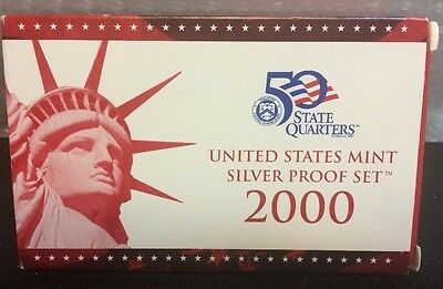 2000 S SILVER PROOF SET * ALL 10 * COMPLETE US Mint Original Sealed Coins
