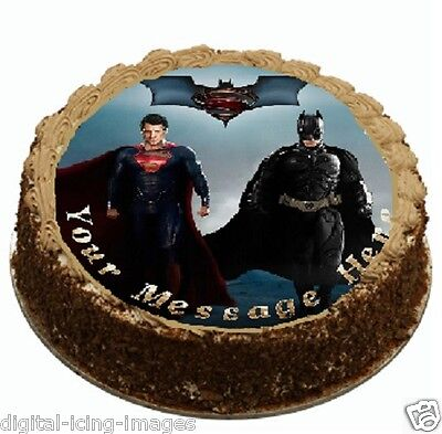 Edible Cake Images Qld : Cake topper edible image icing Batman vs Superman REAL ...