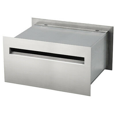 NEW Milkcan Palazzo A4 Stainless Steel Brick In Mailbox Set Expandable Letterbox