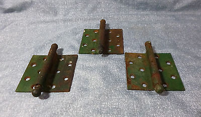 Antique Cast Iron Offset Hinges - Set of 3