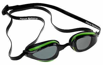 Michael Phelps K180+ Goggles Mens Green Smoke Curved Lens UVA UVB Italy 221945