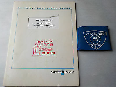 Hp 6177C 6181C Precision Constant Current Sources Operating And Service Manual